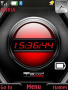 Red Battery Clock themes
