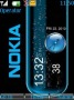Blue Nokia Clock themes