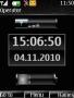 Black Pure Battery Clock themes