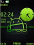 Green Android Clock S40 Theme themes