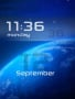 Space 3D Clock Free Mobile Themes