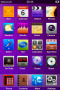 Purple Background IPhone Theme themes