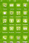 Green 3D Background IPhone Theme themes