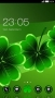 Green Digital Leaves Flowers Android Theme themes
