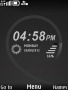 Black Fabric Clock themes