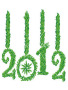 Green New Year 2012 wallpapers