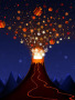 Christmas Volcano Free Mobile Wallpapers