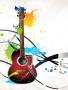 Color Art Guitar wallpapers