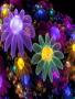 Neon Digiatl Flowers wallpapers