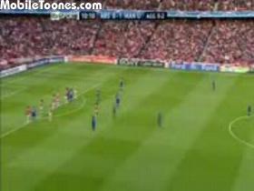 C.Ronaldo Free Kick Goal Vs Arsenal Mobile Video